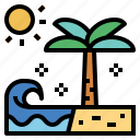 beach, holidays, summer, vacations icon