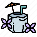 cocktail, coconut, drink, holidays icon