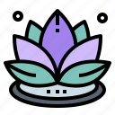 buddha, cultures, flower, lotus icon