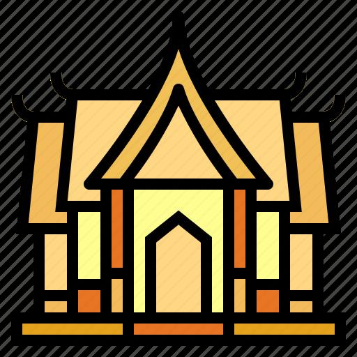 architecture, cultures, temple, thailand icon