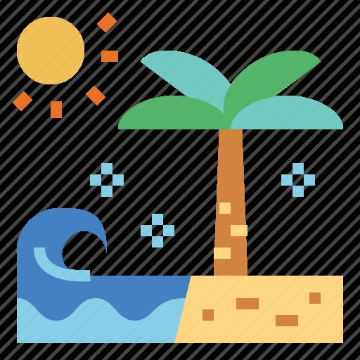 beach, holidays, summer, vacations icon