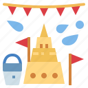 festival, songkran, thailand, water icon