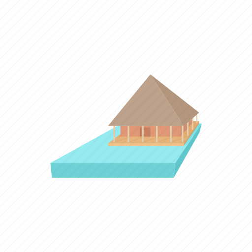 asia, cartoon, house, natural, nature, thailand, water icon