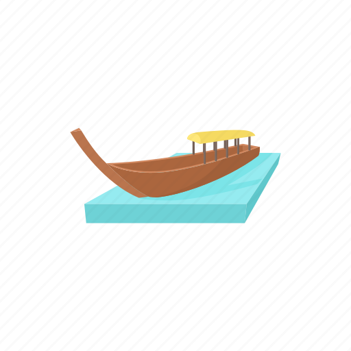 boat, cartoon, ocean, sea, thailand, travel, tropical icon