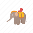 animal, asia, cartoon, elephant, mammal, thailand, wild icon