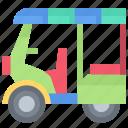 nationality, thai, thailand, tuktuk icon