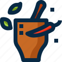 chili, cooking, food, herb, mortar, sauce, thailand icon