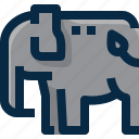 animal, elephant, mammal, pet, thailand, wild, zoo icon