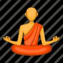 buddhist, man, monk, temple icon
