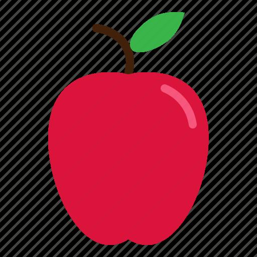 apple, fresh, fruit, red icon