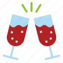 celebration, cheers, drink, party, wine icon