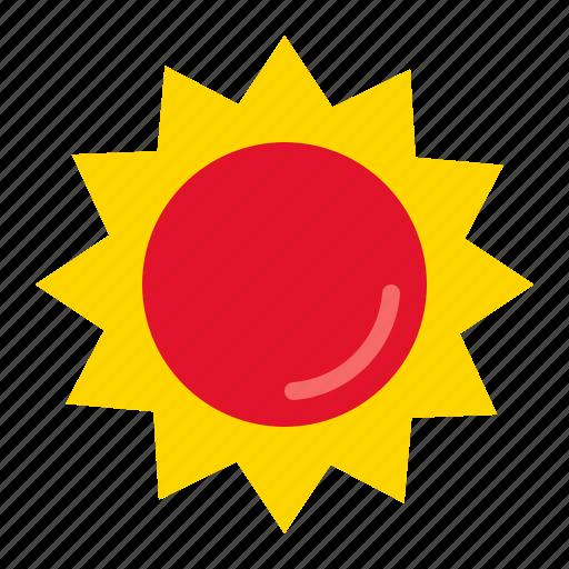summer, sun, sunrise, weather icon