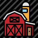 agriculture, barn, farm, garden, silo