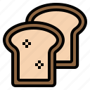 bread, breakfast, loaf, toast icon