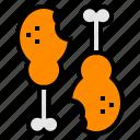 bone, chicken, food, leg, meat icon