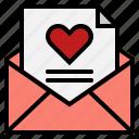 envelope, heart, letter, love icon
