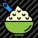 food, holiday, mash, mashed, potato, soup icon
