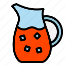 drink, jar, juice, pitcher, water