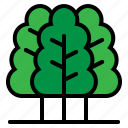 nature, summer, tree, wood icon