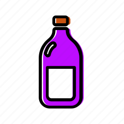 bottle, drink, milk, wine icon