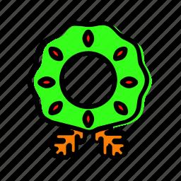 circlet, decoration, garland, oak, wreath icon