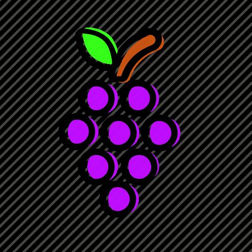 fruit, grape, grapes, vine icon