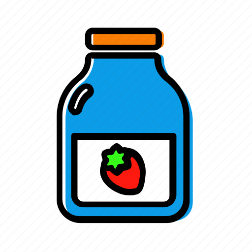 jam, jar, marmelade, strawberry icon