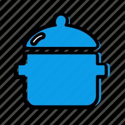 bowl, dish, pan, pot, potty icon