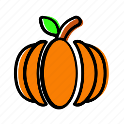 autumn, helloween, pumpkin, vegetable icon