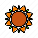 autumn, flower, sun, sunflower, thanksgiving icon