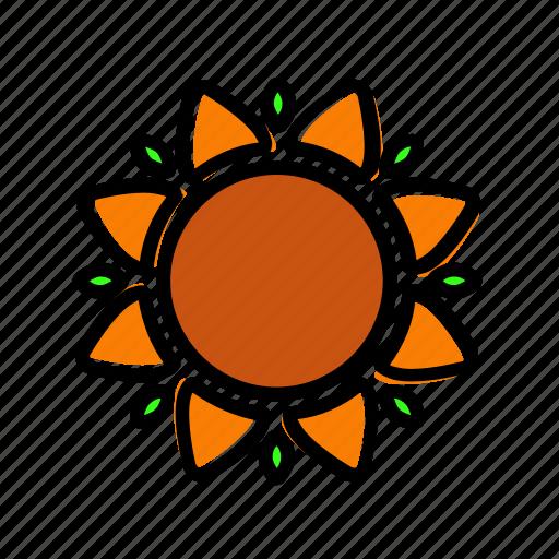 autumn, flower, sun, sunflower, thanksgiving icon