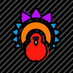 bird, chicken, fawl, thanksgiving, turkey icon