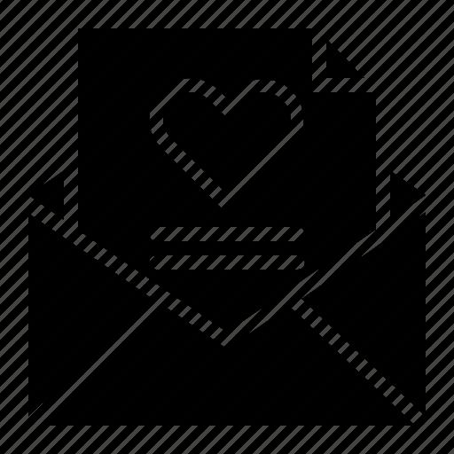 Envelope, heart, letter, love, valentine icon - Download on Iconfinder