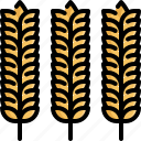 cooking, food, healthy, kitchen, restaurant, rice, wheat icon