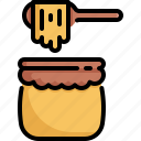 bee, beverage, bottle, drink, honey, jar icon
