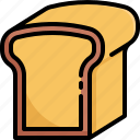 bakery, bread, breakfast, cooking, restaurant, toast icon