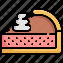 bakery, cake, chess, cream, dessert, piece, sweet icon
