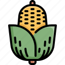 corn, fresh, fruit, healthy, organic, vegetable icon