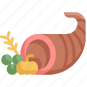 basket, cornucopia, fresh, fruit, healthy