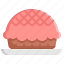 bake, bakery, bread, dessert, pie, sweet icon