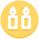 candles, flame, light, thanksgiving, wax icon