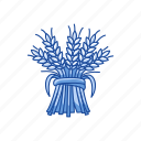 flour, grain, harvest, plant icon