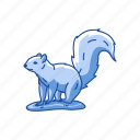 black squirrel, chipmunk, mammal, squirrel icon