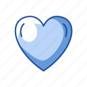 heart, like, love, shape icon