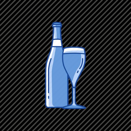 champagne, red wine, sparkling wine, wine icon