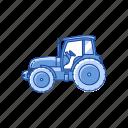harvest, john deer, tractor, truck icon