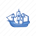 boat, festive, ship, yacht icon
