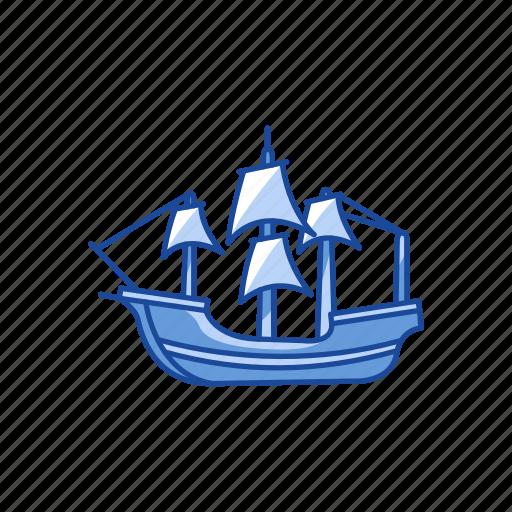 boat, festive, ship, yacht icon