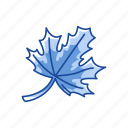 fall leaves, fall season, leaf, maple leaf icon