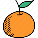 fruit, orange, thanksgiving icon